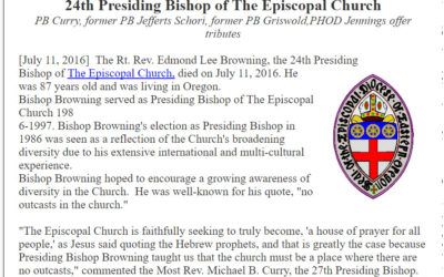 Rest in Peace: Rev. Edmond Lee Browning